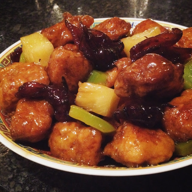 Sweet and Sour Pork with Tangy Hibiscus Sauce