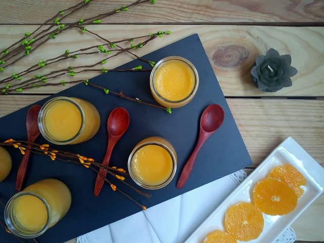 Crema de naranja y cava. Postre sencillo con delicioso sabor a cítrico. Facil de elaborar, Sin horno. Cuca