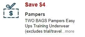 $4.00/2 Pampers Easy ups CVS APP MFR Digital Coupon (go to CVS App)