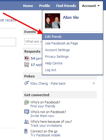 Can you hide your facebook account