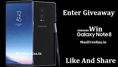Giveaway Samsung Galaxy Note 8