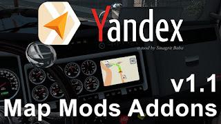 cover ats yandex navigator normal & night version map mods addons v1.1