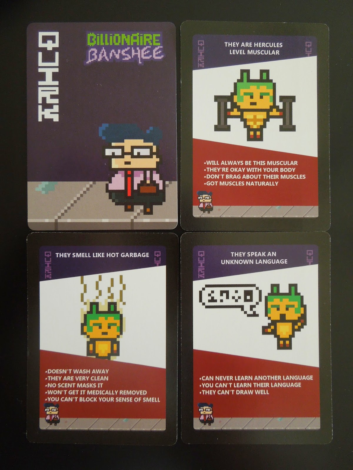 Billionaire Banshee   A Board Game A Day A Board Game A Day   blogger Once a  quot Perk quot  and a  quot Quirk quot  have been revealed  the non dating players vote whether they think the dater would date the person in question