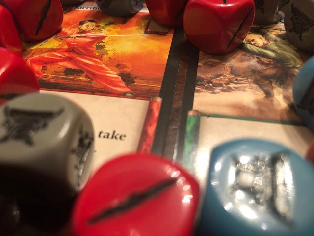 Bushido Board Game Review Dice and Cards, Grey Fox Games; Image by Benjamin Kochere