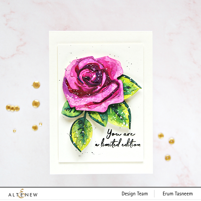 Altenew Craft-A-Flower: Rose + Artists's Watercolours | Erum Tasneem | @pr0digy0