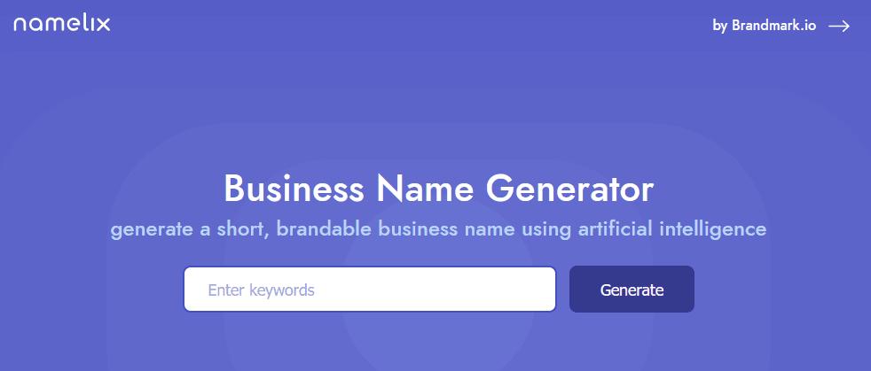 موقع ذكاء إصطناعي يساعدك في إيجاد الإسم المناسب لموقعك او شركتك