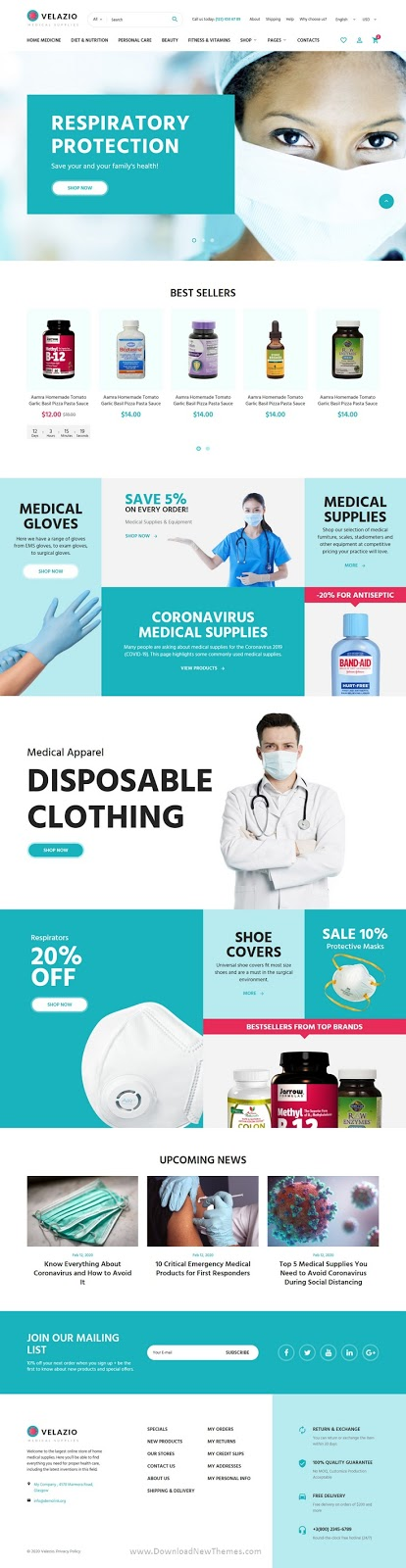 Medical Supplies Shop HTML template