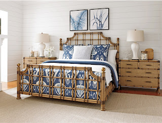Tommy Bahama Twin Palms Rattan Bed at Baers Furniture