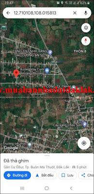 Bán đất Thôn 4 Cư ÊBur Thành phố Buôn Ma Thuột 595 triệu