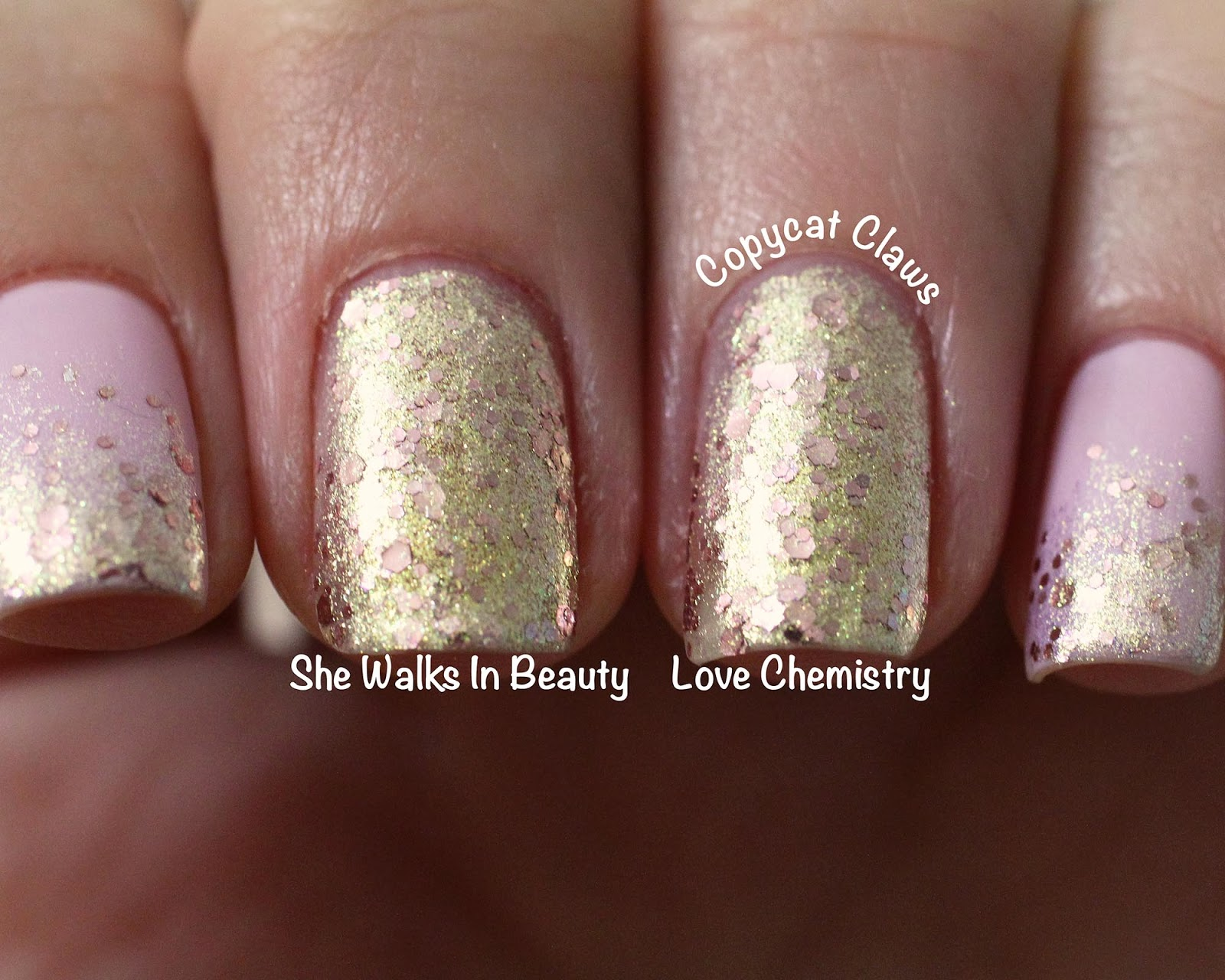 Copycat Claws: A England She Walks In Beauty Glitter Gradient and ...