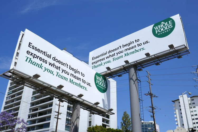 Essential Members Whole Foods billboards