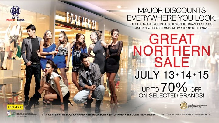 4fd2b039f0e923 July 13-15  The Great Northern Sale 2012 - SM North Edsa