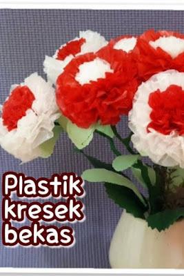 kerajinan dari plastik kresek dan cara pembuatannya