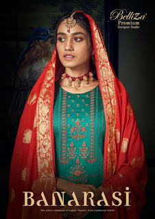 Belliza Designer Banarasi Jam Silk Salwar Suits Collection