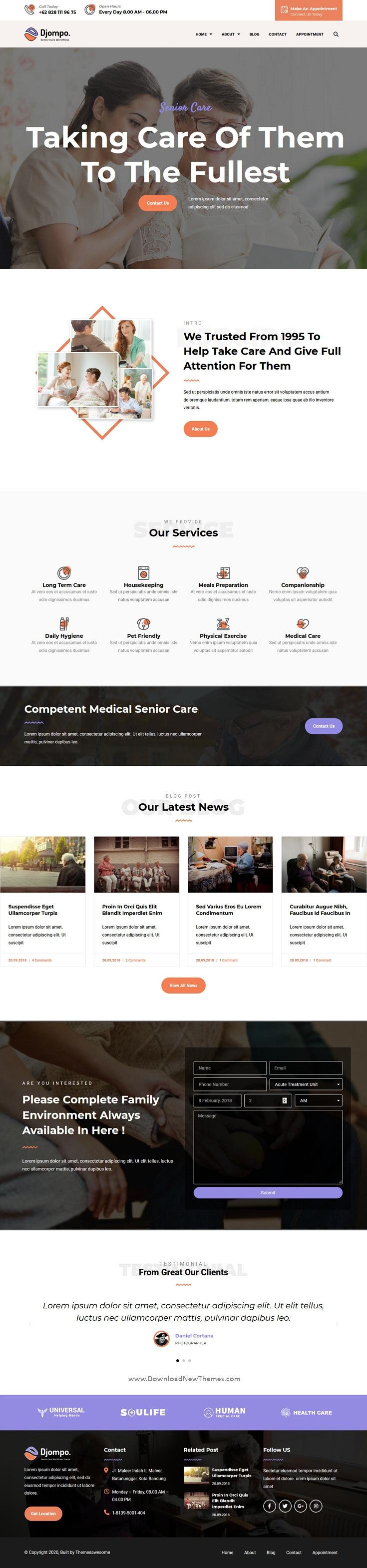 Senior Care Elementor Template Kit