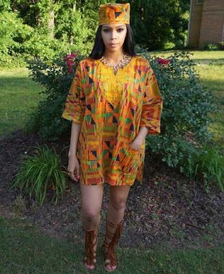 Alana Noel in Ghana fashion