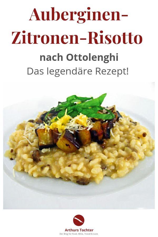 """Ein Rezept für das beste Auberginen-Zitronen-Risotto der Welt! Es stammt aus dem berühmten Kochbuch """"Genussvoll vegetarisch"""" von Yotam Ottolenghi. Einfach zuzubereiten, bombastischer Geschmack! Das müsst ihr nachkochen! #risotto #rezept #vegetarisch #thermomix #aubergine #israelisch #orientalische #backofen #gewürze #levante #kochbuch #arthurstochter #foodblog #foodphotography #foodstyling #parmesan #einfach #schnell #gesund #cremig #basilikum #arabisch #marokko #libanesisch"""