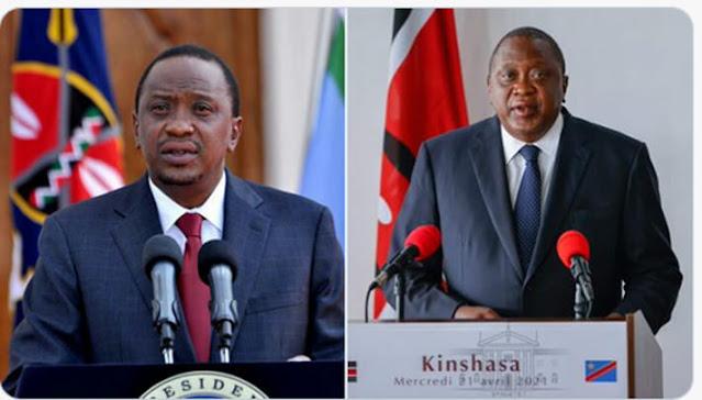 President Uhuru Kenyatta weight gaining photo in Kinshasa