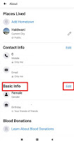 how to change date of birth in facebook app