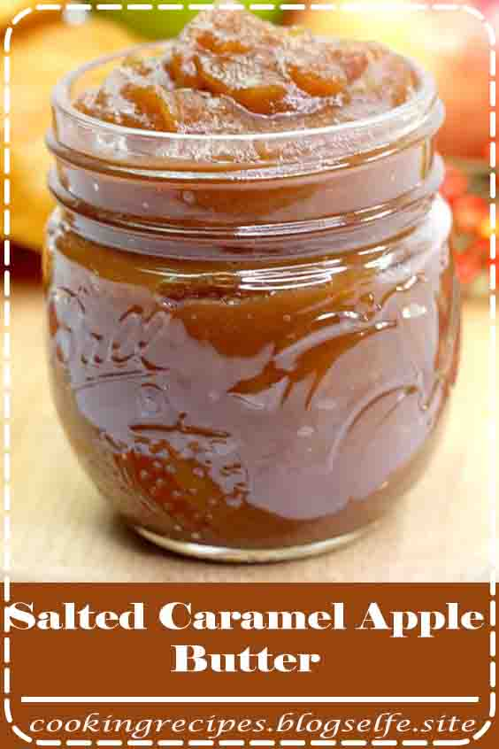 4.8 ★★★★★ | Salted Caramel Apple Butter #halloween desserts #recipes #caramel apples