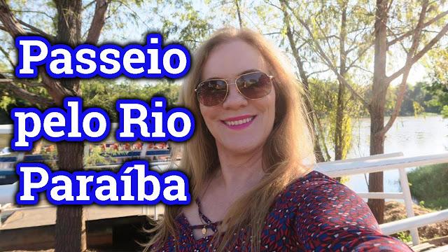 Passeio de balsa no Rio Paraíba do Sul, em vídeo.