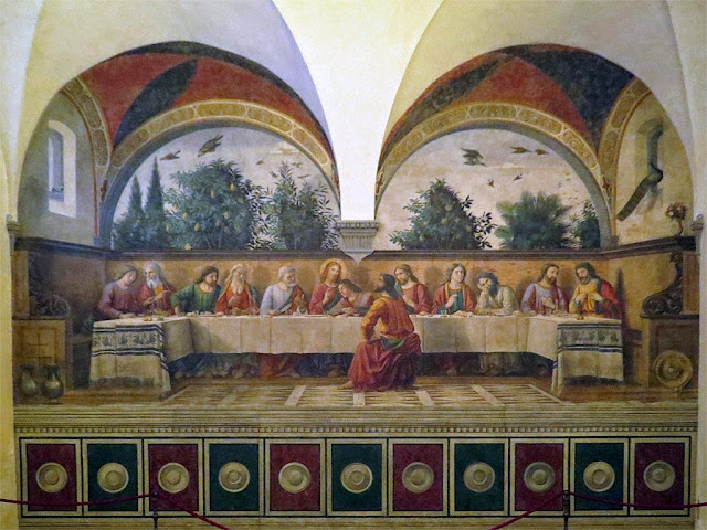 Ultima Cena, Last Supper by Domenico Ghirlandaio, Cenacolo di Ognissanti, Refectory of All-Saints, Florence