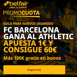 promocuota betfair Athletic v Barcelona 6-1-2021