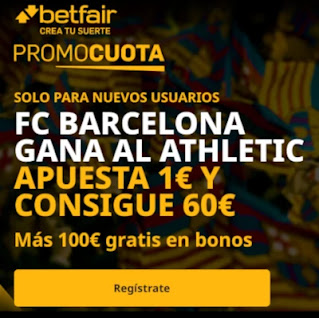 betfair promocuota Barcelona gana Athletic 6 enero 2021