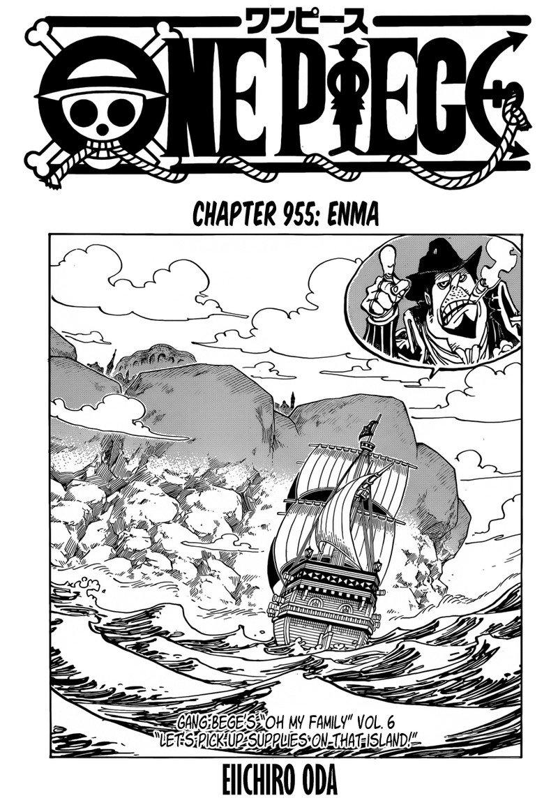 One Piece Manga Chapter 955 - Image 001