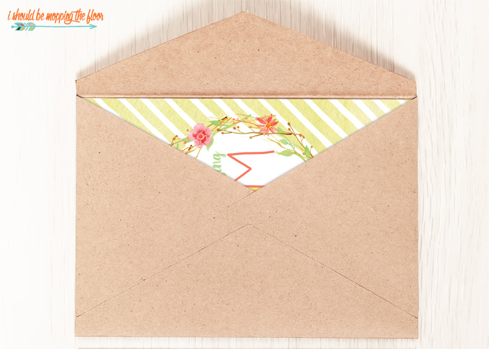 Mother's Day Card and Envelope