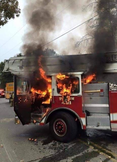 fire truck fire