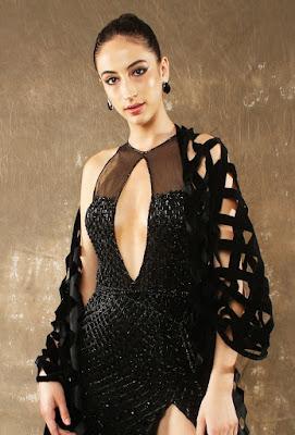 Manish Malhotra Gowns Raven Black Side slit front side