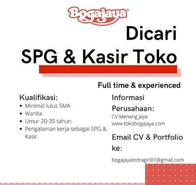 Lowongan Kasir & SPG PT Bogajaya Surabaya Terbaru Lulusan SMA/Sederajat