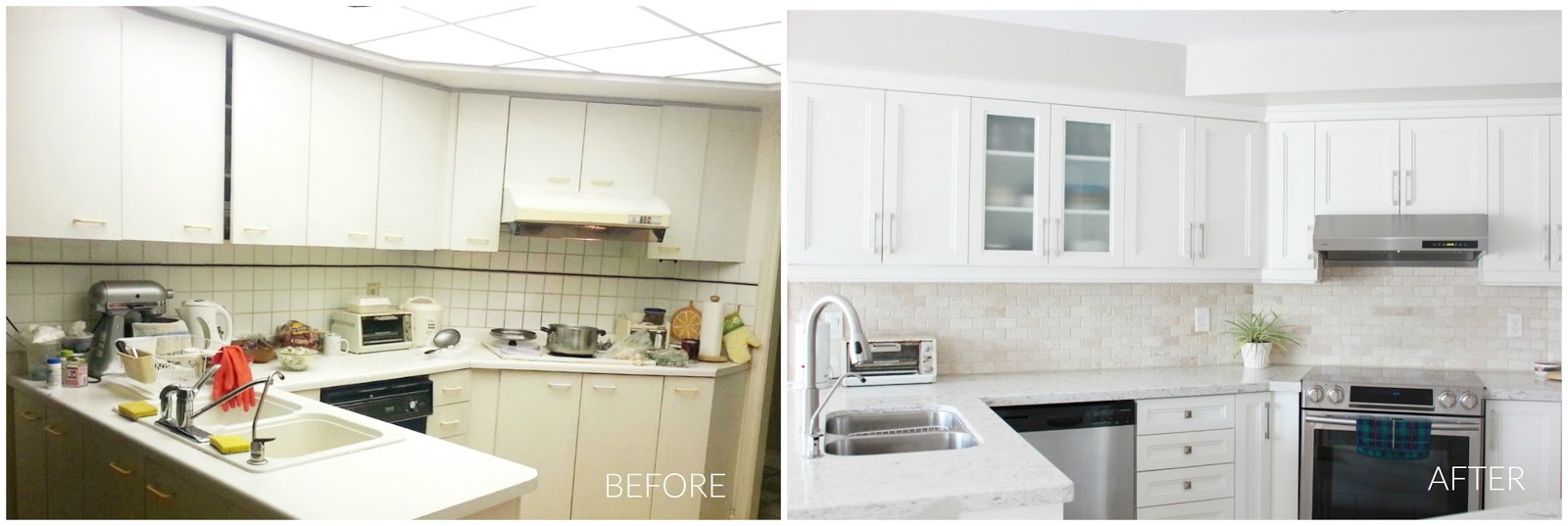 Kitchen Reno Diary 3 {Before and After}