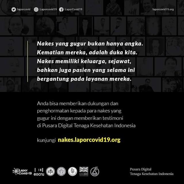 607 Tenaga Kesehatan Indonesia yang Tercatat Gugur Melawan Covid-19