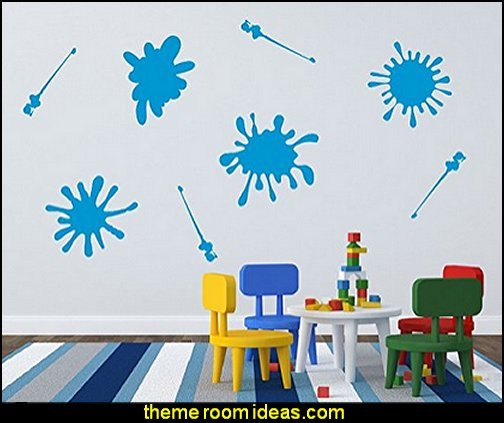 Paint Splatters Vinyl Wall Decal Set