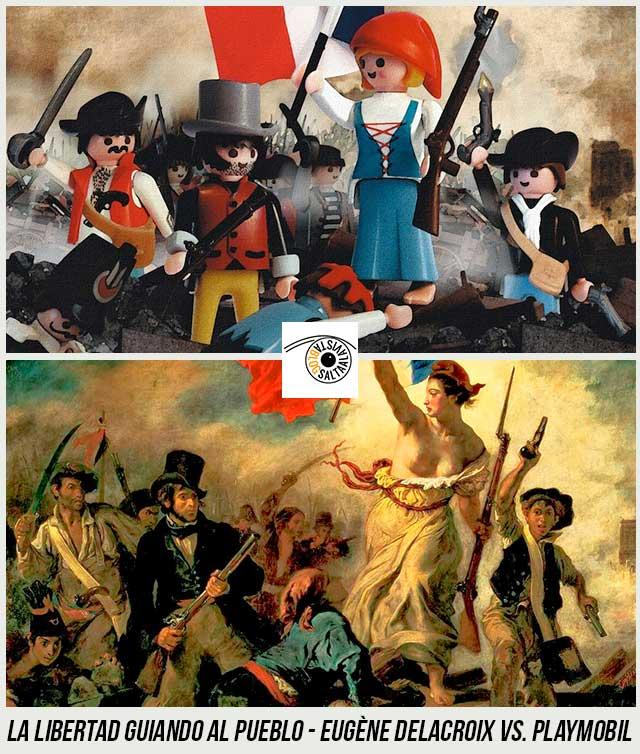 Cuadro-La-Libertad-Guiando-al-Pueblo-de-Eugène-Delacroix-Hecho-con-Playmobil