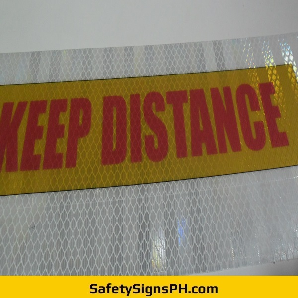 Keep Distance Prismatic Sticker Philippines