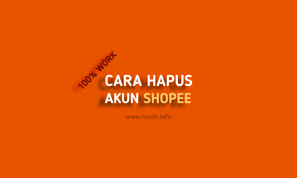 cara hapus akun shopee di laptop, web atau komputer (account)