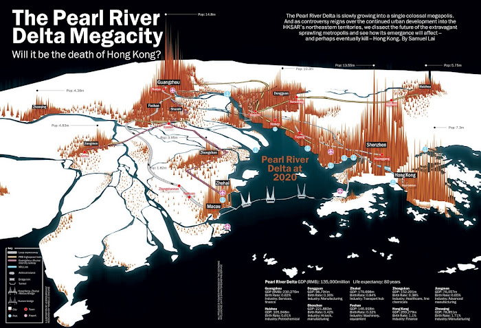 Map of the Pearl River Delta Megacity