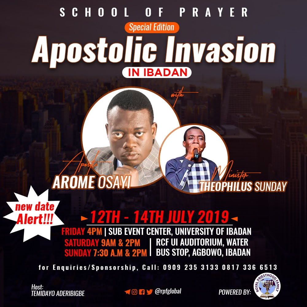 School Of Prayer – Apostolic Invasion With Apostle Arome Osayi and