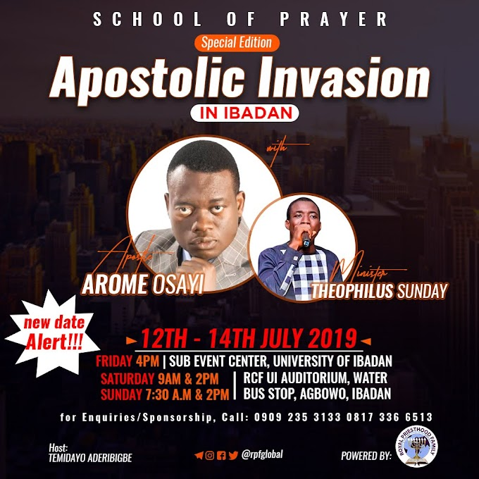 School Of Prayer – Apostolic Invasion With Apostle Arome Osayi and Minister Theophilus Sunday