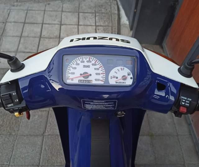 Spedometer Restorasi Satria 120R Biru Putih