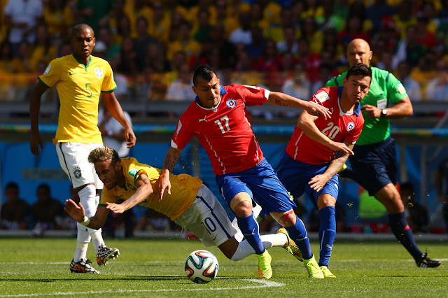Brasil y Chile en Copa del Mundo Brasil 2014, 28 de junio