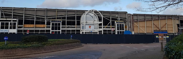 Toys R Us at the Central Retail Park in Manchester. March 2019