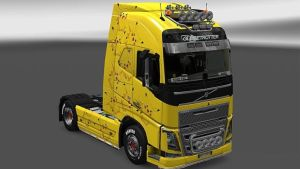Pikachu skin for Volvo 2012