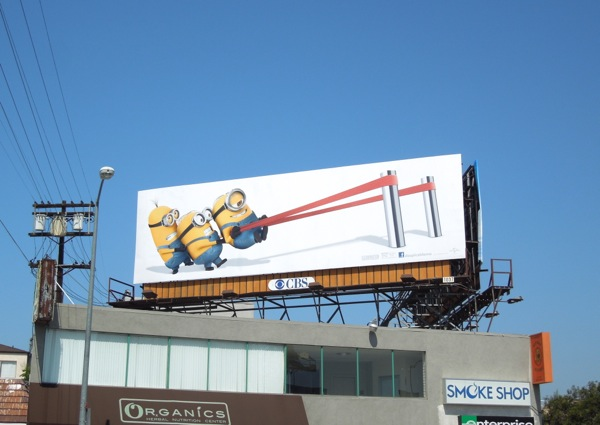 Despicable Me 2 catapult billboard