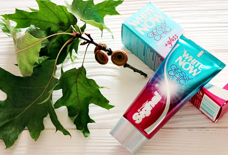 Отбеливающая зубная паста с мгновенным эффектом SIGNAL White Now Glossy Chic / обзор, отзывы