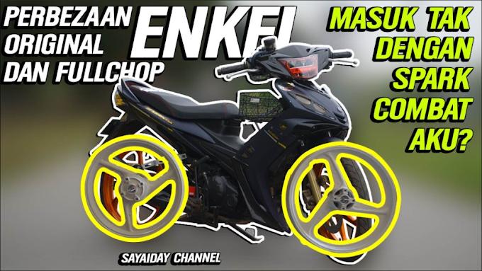 Cara Kenal Sport Rim Enkei 3 Batang Original Dengan Full Cop