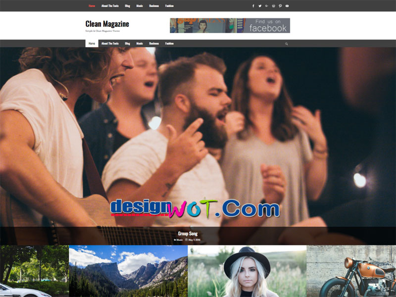 Clean Magazine Responsive WordPress Theme